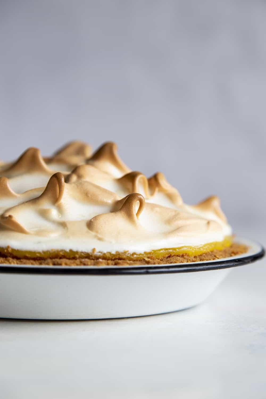 Baked Lemon Meringue pie with a golden top.