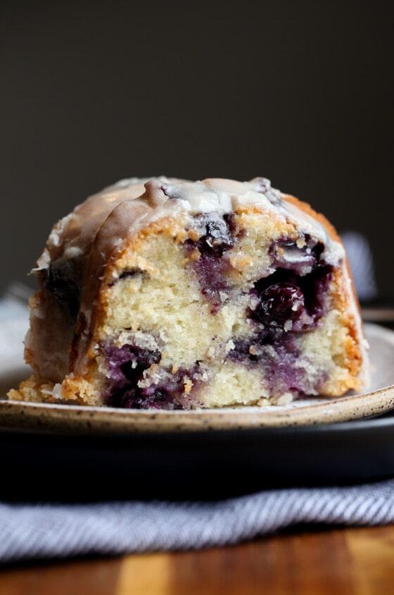 Sour Cream Blueberry Bundt Cake