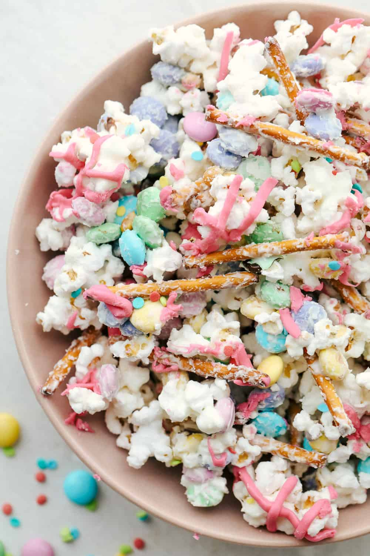 A Bowl full of Bunny Bait or Funfetti popcorn.