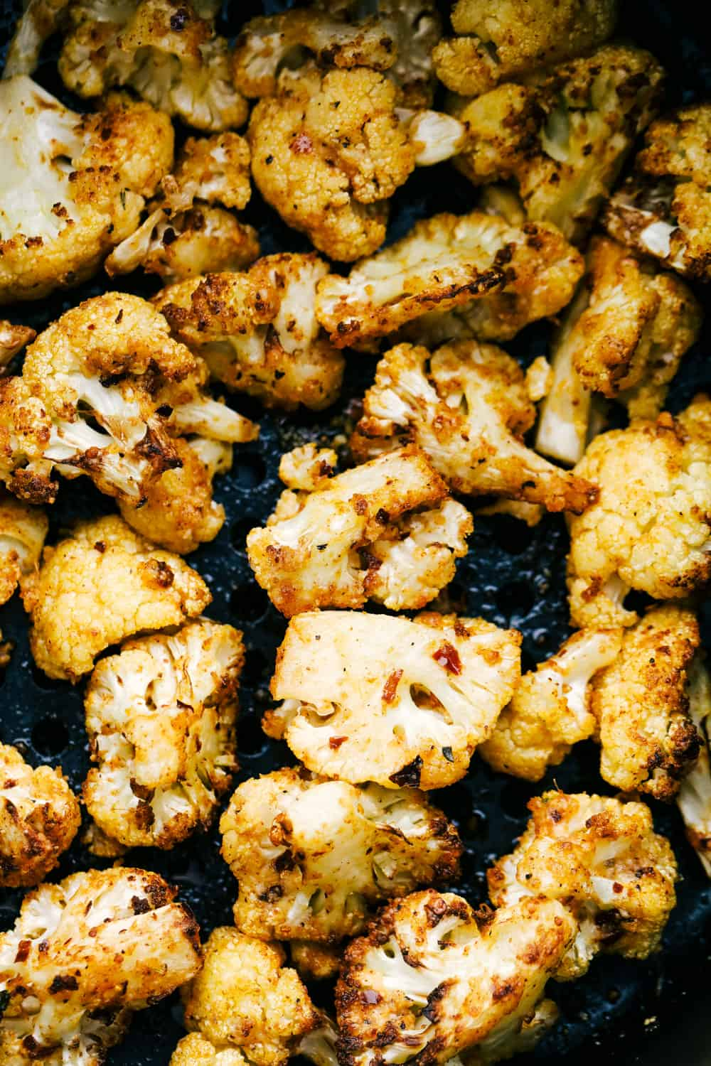 Roasted cauliflower in the air fryer.