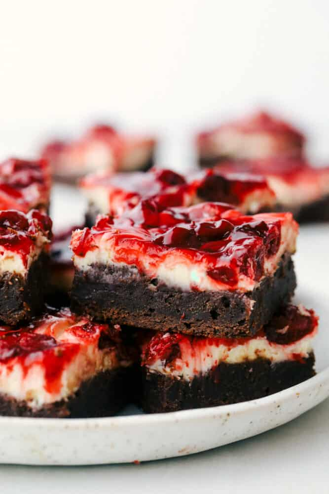 Brownies on a plate.