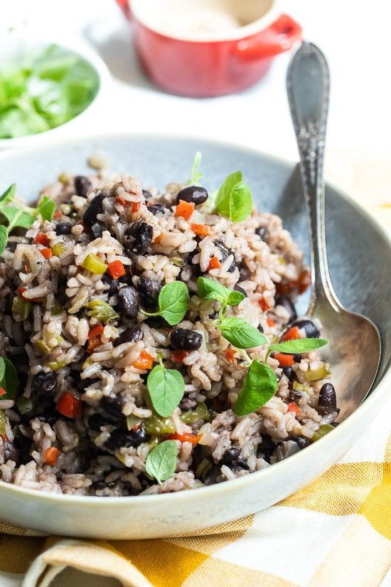 Cuban rice and black beans