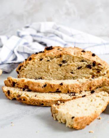 Traditional Irish Soda Bread sliced