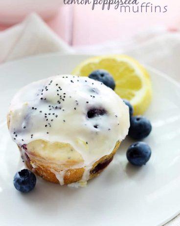 Blueberry Lemon Poppyseed Muffins