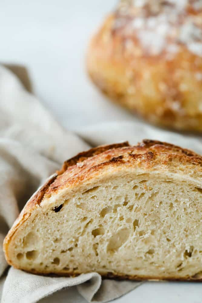 Perfectly light and airy sourdough bread.