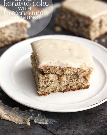 Browned Butter Banana Cake with Brown Sugar Frosting