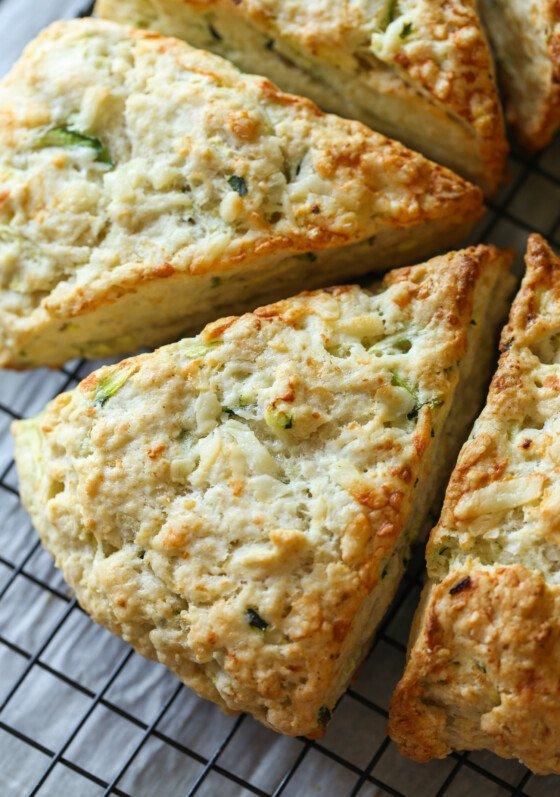 Zucchini Cheddar Scones
