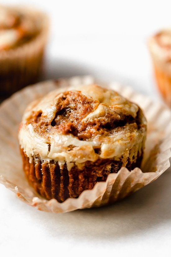 Pumpkin Cream Cheese Muffins are moist, delicious and perfectly spiced! A delicious fall breakfast treat made with canned pumpkin, pumpkin spice and a cream cheese swirl topping.