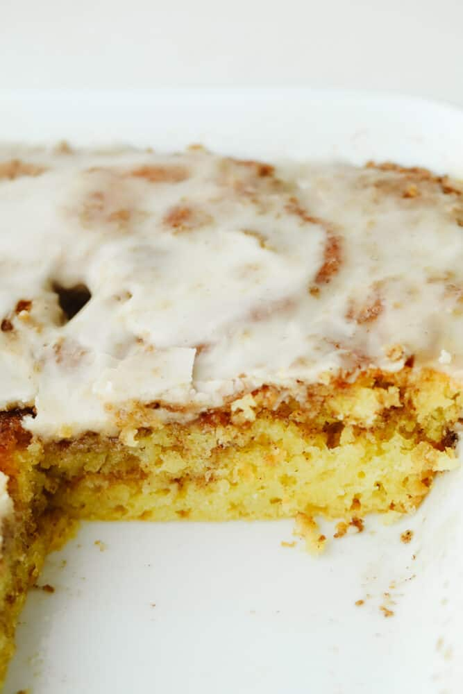 Cake in a pan.
