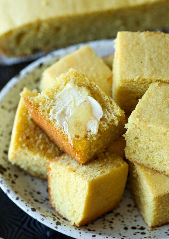 Fluffy Sour Cream Cornbread