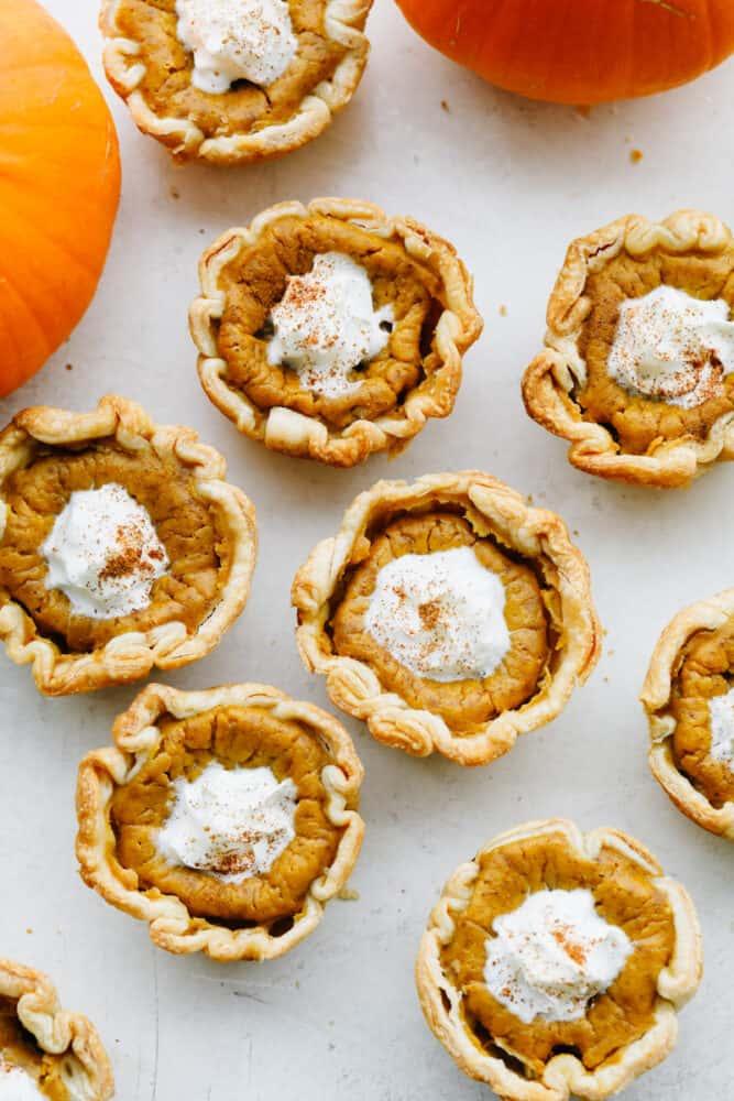 Mini pumpkin pies.